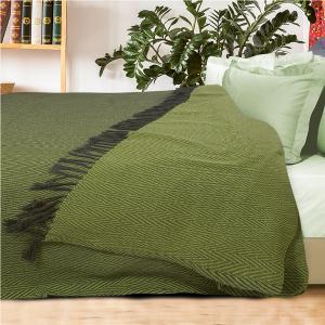 Κουβέρτα Υπέρδιπλη με Κρόσσια Jacquard 230x260cm Das Home 0343