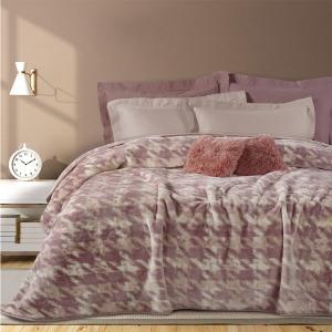 Κουβέρτα Υπέρδιπλη Βελουτέ 220x240cm Das Home Blanket 0461 Πολυέστερας