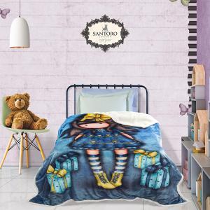 Κουβέρτα Μονή Παιδική Fleece 160x220cm Das Kids Santoro Prints 5020 Πολυεστερική