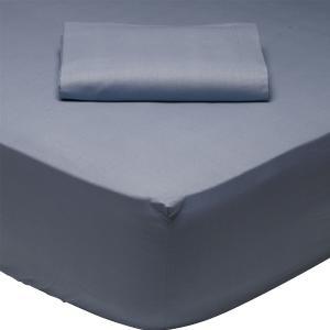 Σεντόνι Υπέρδιπλο με Λάστιχο 170x200+35cm Das Home Best 1006 Μπλέ