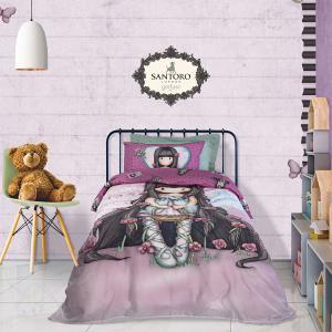 Σεντόνια Παιδικά Σετ 160x260cm Das Kids Santoro Prints 5028 Βαμβακερά
