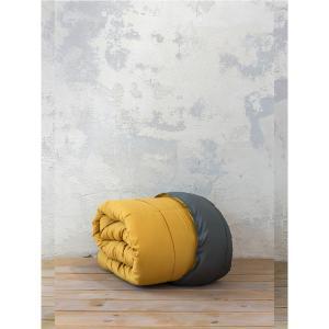 Πάπλωμα Μονό 160x240cm Nima Abalone New Dark Gray / Mustard Beige
