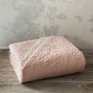 Κουβερλί King Size 240x260cm Nima Foglie Pink/Ivory Microfiber