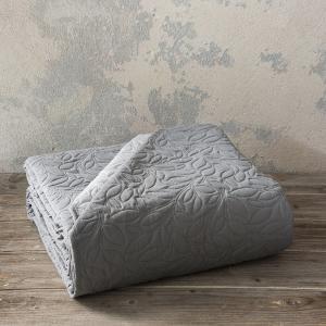 Κουβερλί King Size 240x260cm Nima Foglie Graphite/Gray Microfiber