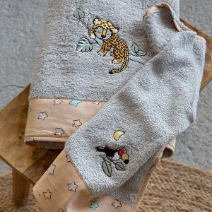 Πετσέτες Παιδικές Σετ 2 Τεμάχια Nima Sleepy Panther Βαμβακερές