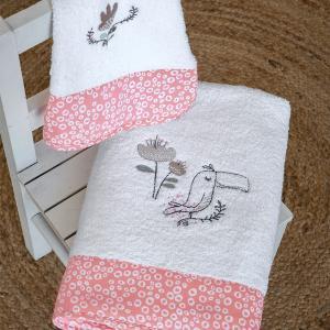 Πετσέτες Παιδικές Σετ 2 Τεμάχια Nima Toco Toucan Βαμβακερές