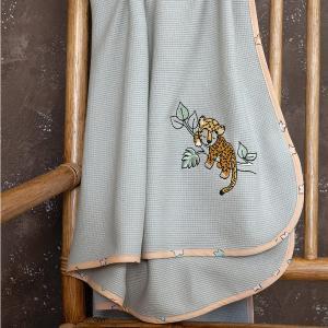 Κουβέρτα Πικέ Αγκαλιάς 80x110cm Nima Sleepy Panther Βαμβακερή