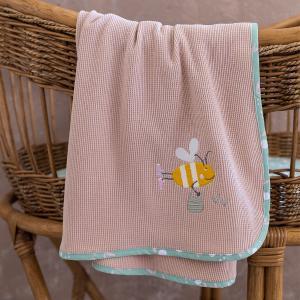 Κουβέρτα Πικέ Αγκαλιάς 80x110cm Nima Bumblebee Βαμβακερή