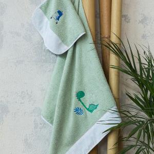 Πετσέτες Παιδικές Σετ 2 Τεμάχια Nima Dinoskating Βαμβακερές