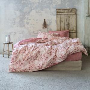 Σεντόνια King Size Σετ Με Λάστιχο 180x200+32cm Nima Intrigue Pink Βαμβακι Percale