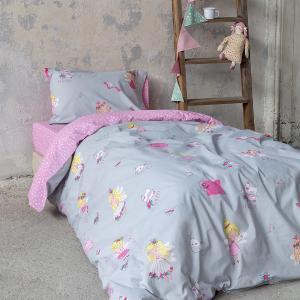 Σεντόνια Παιδικά Μονά Σετ Με Λάστιχο 100x200+30cm Nima Fairy Tailor Βαμβακερά