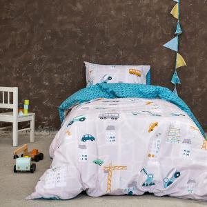Σεντόνια Παιδικά Μονά Σετ Με Λάστιχο 100x200+30cm Nima Kaboodle Βαμβακερά