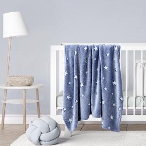 Κουβέρτα Αγκαλιάς Βρεφική Fleece 80x110cm Kocoon Glow Star Blue Πολυέστερας