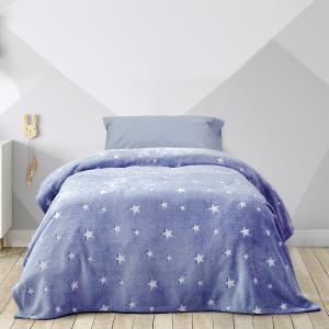 Κουβέρτα Μονή Παιδική Fleece 150x220cm Kocoon Glow Star Blue Πολυέστερας
