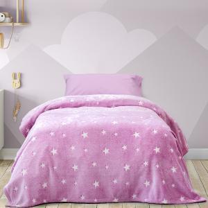 Κουβέρτα Μονή Παιδική Fleece 150x220cm Kocoon Glow Star Pink Πολυέστερας