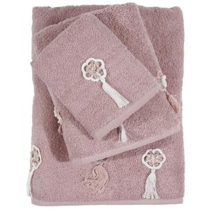 Πετσέτες Σετ 3 Tμχ Das Home Daily 0375 Ροδί