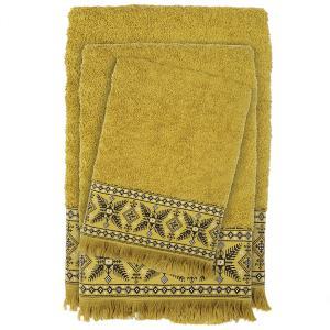 Πετσέτες Σετ 3 τμχ Das Home Happy Line 0392 Λαχανί