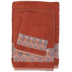Πετσέτες Σετ 3 τμχ Das Home Happy Line 0396 Κεραμυδί