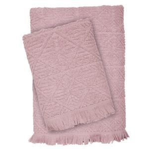 Πετσέτες Σετ 3 τμχ Das Home Happy Line 0422 Ροζ