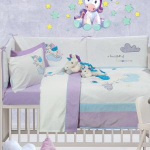 Πάντα Κούνιας Das Home Baby Dream Embroidery 6463 45x195cm