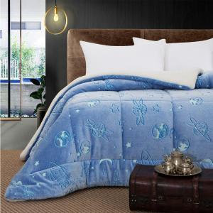 Κουβερτοπάπλωμα Μονό Παιδικό Fleece-Sherpa 160x220cm Beauty Home Art 6156 Πολυέστερας