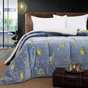 Κουβερτοπάπλωμα Μονό Παιδικό Fleece-Sherpa 160x220cm Beauty Home Art 6158 Πολυέστερας