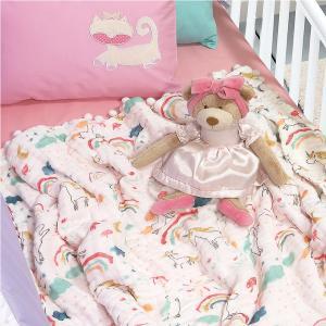 Κουβέρτα Μουσελίνα Αγκαλιάς 80x110cm Das Home Relax 6587