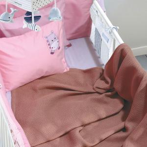 Κουβέρτα Πικέ Κούνιας 110x150cm Das Kid Relax 6544