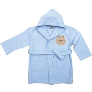 Μπουρνούζι Πικέ με Κουκούλα Das Home Baby Smile Embroidery 6388 Σιέλ