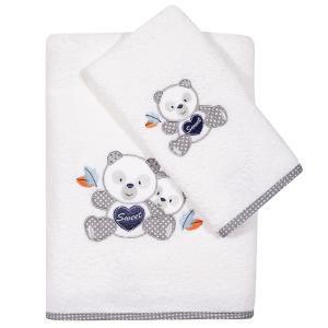 Πετσέτες Βρεφικές Σετ 2τεμ Κεντητές Das Home Baby Embroidery 6574