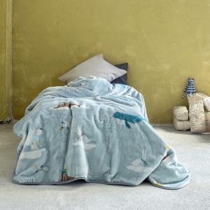 Κουβέρτα Μονή Παιδική Βελουτέ 160x220cm Nima Arctic