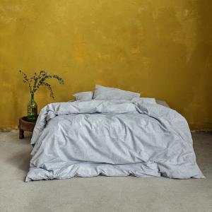 Σεντόνια Υπέρδιπλα Σετ Με Λάστιχο 160x200+32cm Nima Avant Garde Grey Βαμβακερά