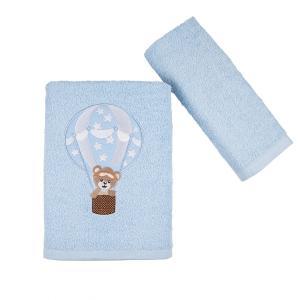 Πετσέτες Παιδικές Σετ 2 Τεμάχια Astron Balloon Βαμβακερές