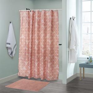 Κουρτίνα Μπάνιου180x200cm + Πατάκι 50x70cm Σετ Flamingo Belina Polyester