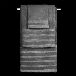 Πετσέτες Σετ 3 τμχ Guy Laroche Bellina Anthracite