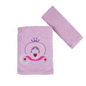 Πετσέτες Παιδικές Σετ 2 Τεμάχια Astron Carriage Βαμβακερές