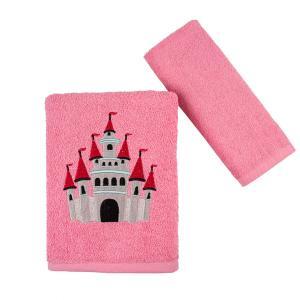 Πετσέτες Παιδικές Σετ 2 Τεμάχια Astron Castel Βαμβακερές