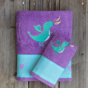 Πετσέτες Παιδικές Σετ 2 Τεμάχια Kocoon Castle Dragon Βαμβακερές