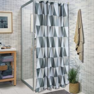 Κουρτίνα Μπάνιου180x200cm + Πατάκι 50x70cm Σετ Corner Belina Polyester