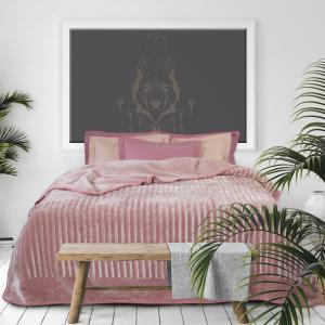 Κουβέρτα Υπέρδιπλη Velour 220x240cm Das Home 0431