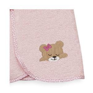 Κάπα Βρεφική 80x80cm Dimcol Sleeping Bear Cubs 14 Ροζ