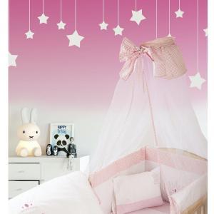Κουνουπιέρα 160x490 Dimcol Princess 33 Λευκό/Ροζ