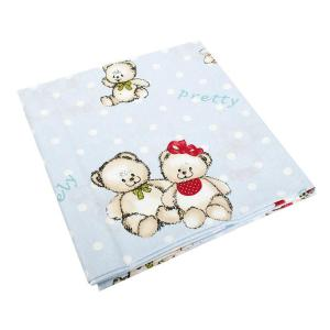 Πάπλωμα Κούνιας 120x160cm Dimcol Two Lovely Bears 64 Blue