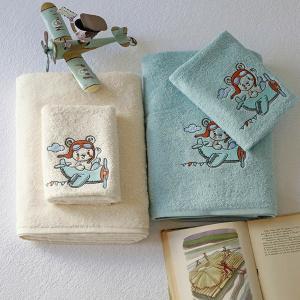 Πετσέτες Παιδικές Σετ 2 Τεμάχια Melinen Explorer Aqua Βαμβακερές