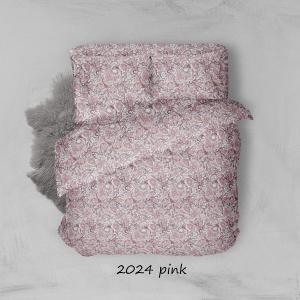 Φανελένια Σεντόνια Διπλά Σετ 200x250cm Sunshine 2024 Pink