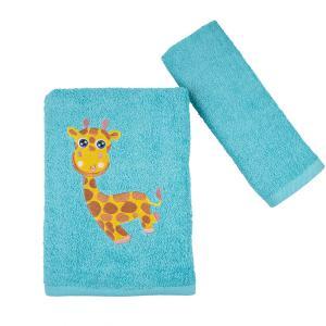 Πετσέτες Παιδικές Σετ 2 Τεμάχια Astron Girafe Βαμβακερές