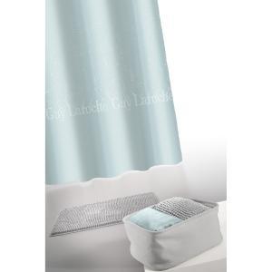 Σετ Μπάνιου με Πατάκι και Κουρτίνα μπάνιου Guy Laroche Glossy Silver