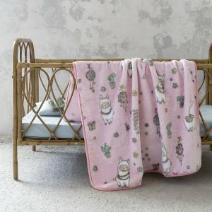 Κουβέρτα Μονή Παιδική Βελουτέ 160x220cm Nima Happy Alpaca