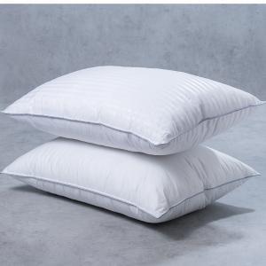 Ζεύγος Μαξιλάρια Ύπνου White Home Satin stripe 3D
