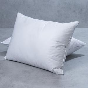 Ζεύγος Μαξιλάρια Ύπνου White Home Cotton Percale 3D + Αδιάβροχες Προστατευτικές Μαξιλαροθήκες